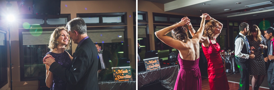 silver springs golf course calgary wedding photographer anna michalska dancing at reception
