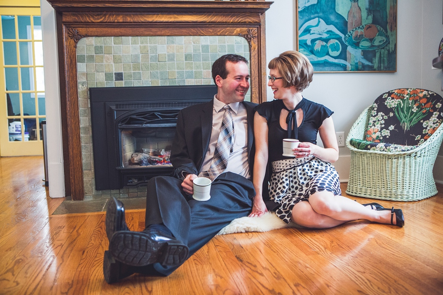 at home winter engagement photos calgary anna michalska