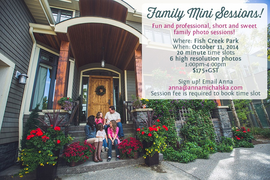 family mini session marathon!