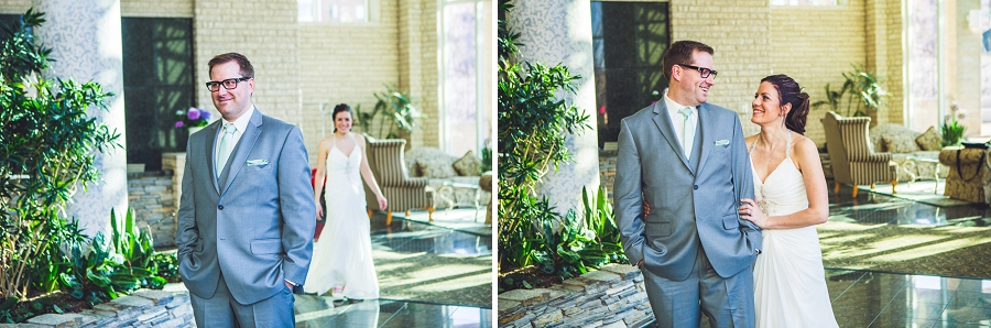 first look bride and groom calgary wedding photographer anna michalska