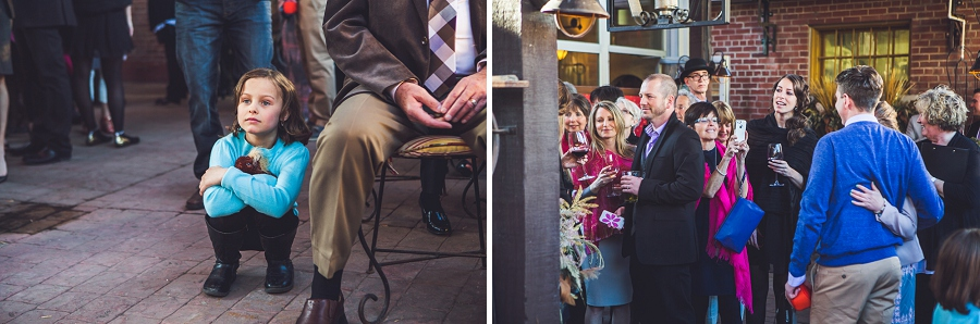 guests being seated patio bonterra trattoria calgary wedding photographer anna michalska