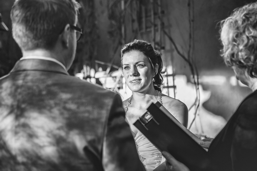 bride looks at groom bonterra trattoria calgary wedding photographer anna michalska