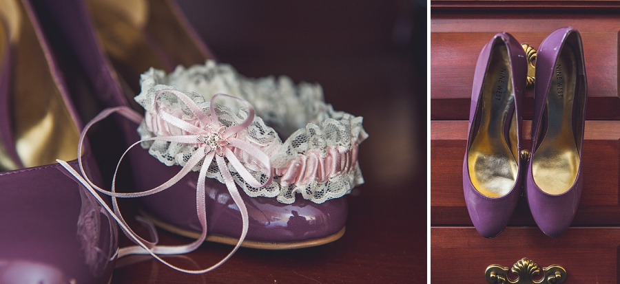 calgary wedding photographer anna michalska best western hotel bride getting ready shoes and garter