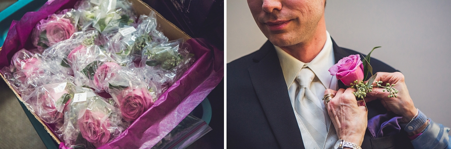 calgary wedding photographer anna michalska first baptist church groom boutonniere
