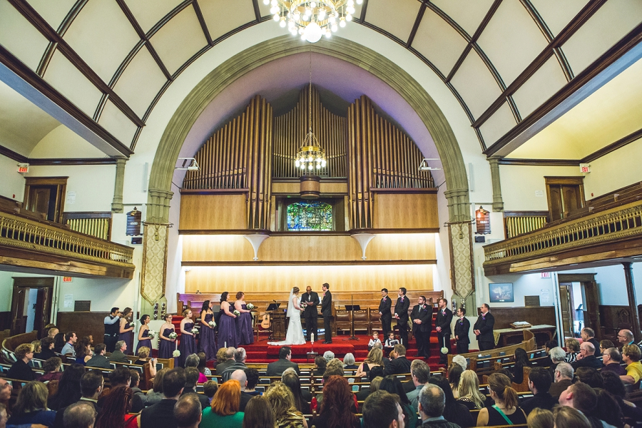 calgary wedding photographer anna michalska first baptist church bride groom ceremony