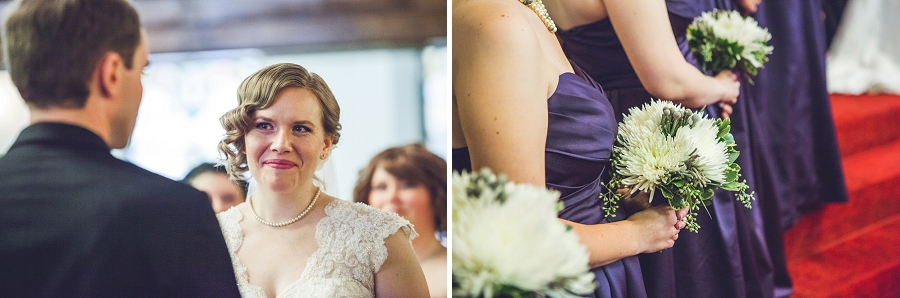calgary wedding photographer anna michalska first baptist church bride looking at groom
