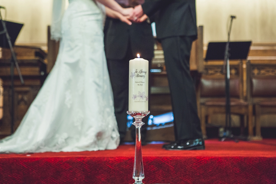 calgary wedding photographer anna michalska first baptist church memorial candle