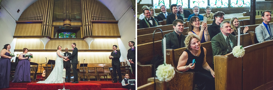 calgary wedding photographer anna michalska first baptist church first kiss