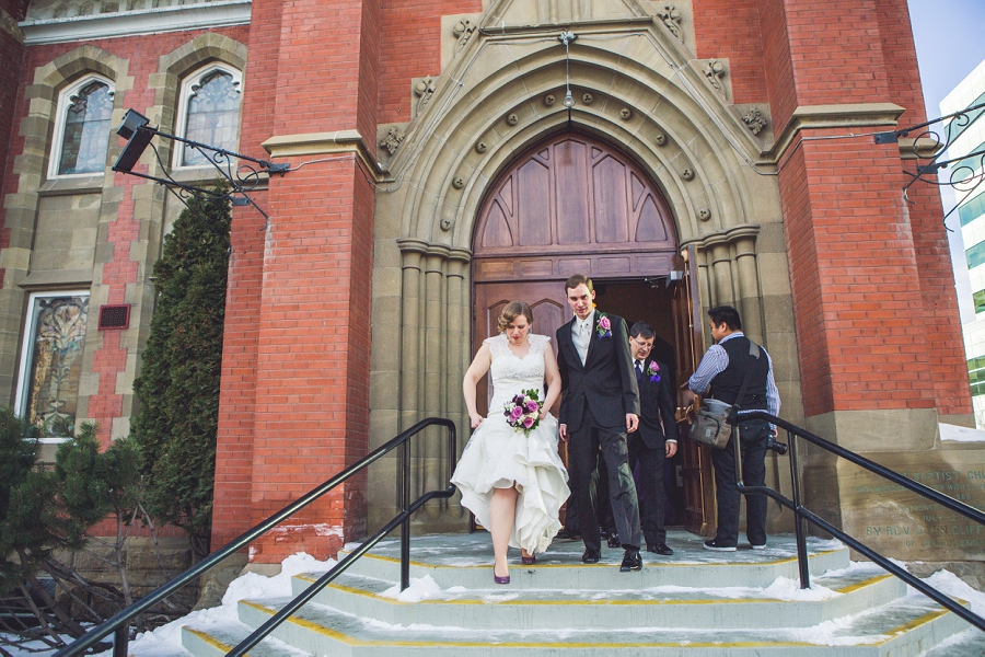 calgary wedding photographer anna michalska first baptist church winter wonderland wedding