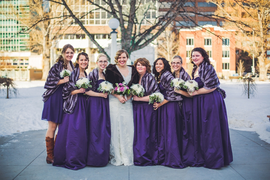 calgary wedding photographer anna michalska winter wonderland central memorial park bridesmaids