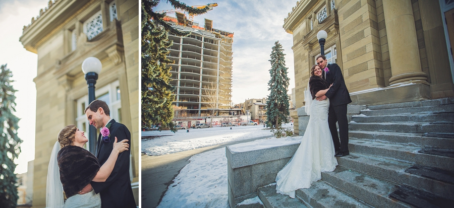 calgary wedding photographer anna michalska winter wonderland central memorial library stairs