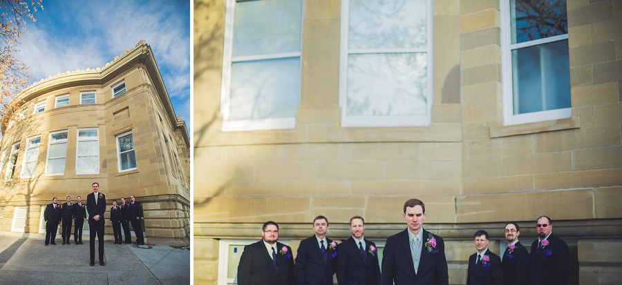 calgary wedding photographer anna michalska winter wonderland central memorial groomsmen