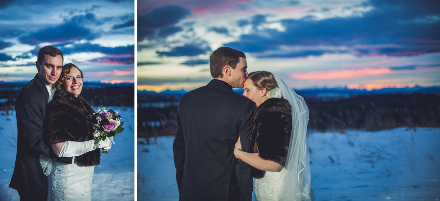 calgary wedding photographer anna michalska winter wonderland pinebrook golf & country club night sky