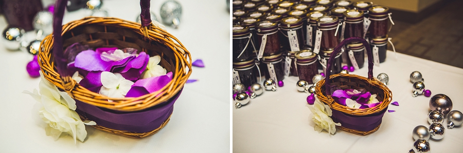 calgary wedding photographer anna michalska winter wonderland pinebrook golf & country club flower girl basket