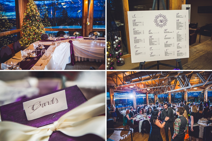 calgary wedding photographer anna michalska winter wonderland pinebrook golf & country club reception decoration