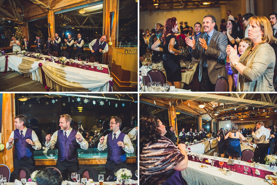 calgary wedding photographer anna michalska winter wonderland pinebrook golf & country club chicken dance