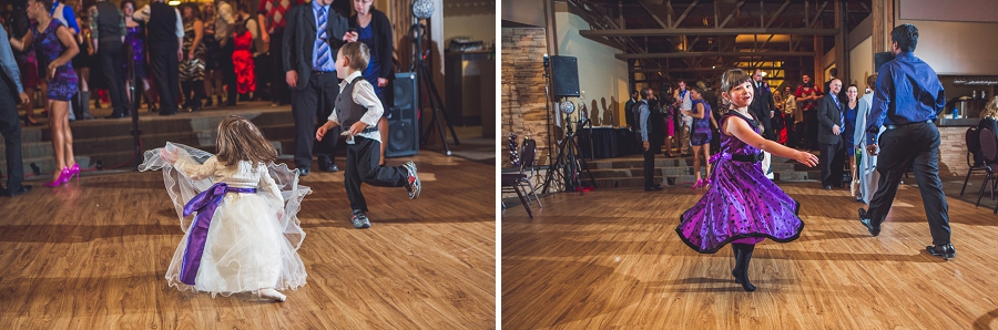 calgary wedding photographer anna michalska winter wonderland pinebrook golf & country club kids dancing