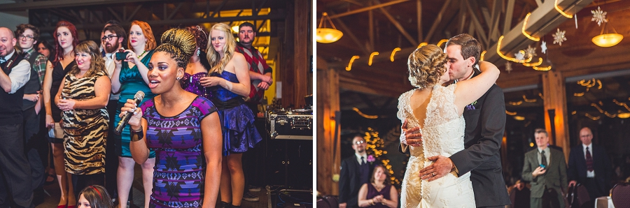 calgary wedding photographer anna michalska winter wonderland pinebrook golf & country club first dance singer