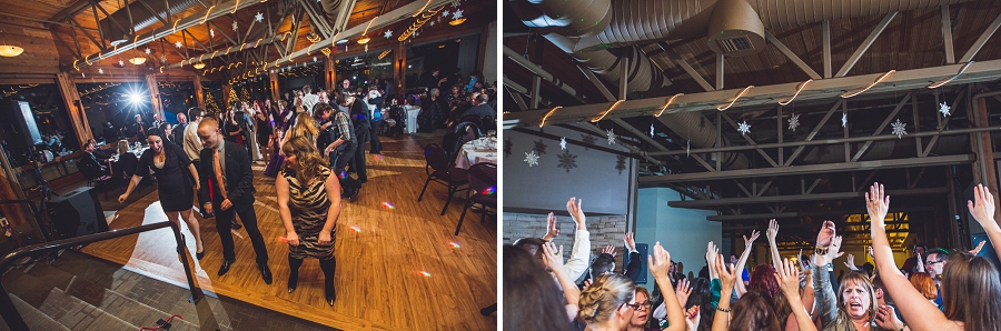 calgary wedding photographer anna michalska winter wonderland pinebrook golf & country club first dance guests