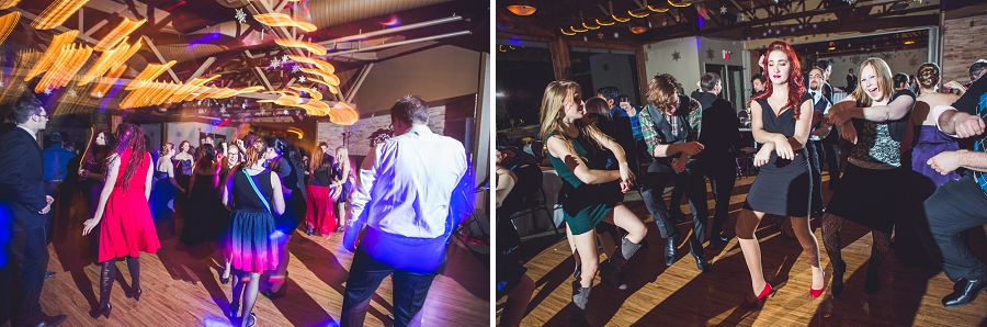 calgary wedding photographer anna michalska winter wonderland pinebrook golf & country club dancing guests gangnam style