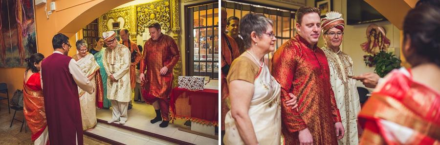calgary hindu wedding hare krishna anna michalska groom being greeted