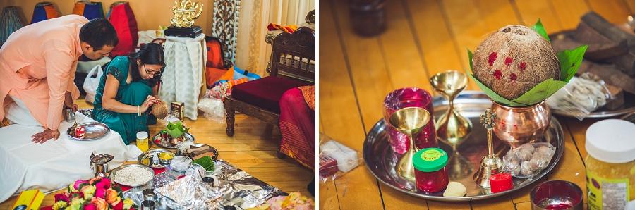 calgary hindu wedding hare krishna anna michalska coconut