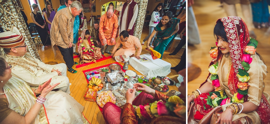 calgary hindu wedding hare krishna anna michalska bride at altar