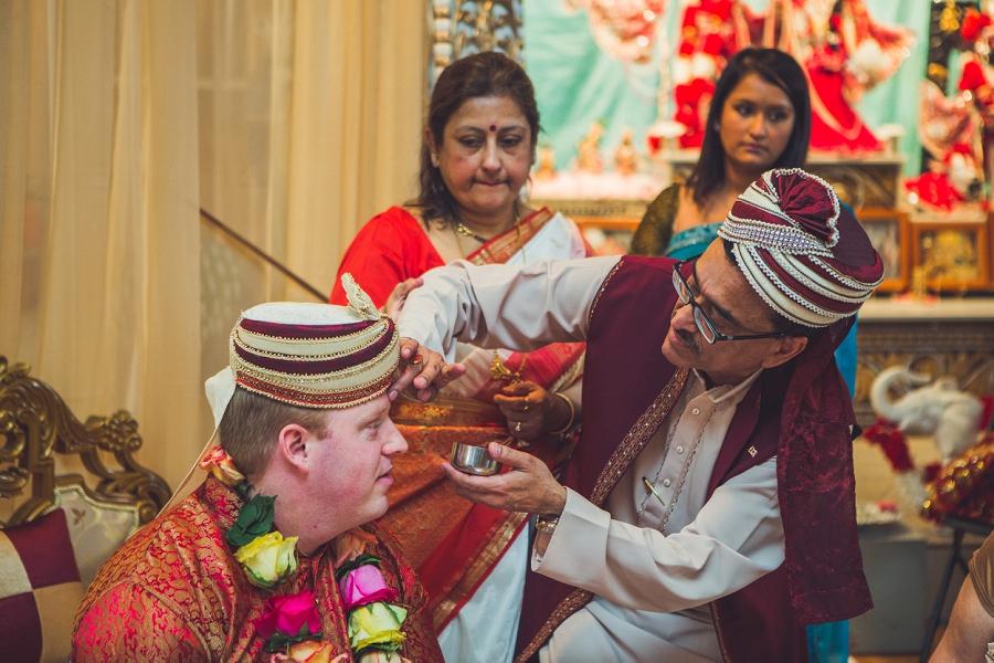 groom with sindoor calgary hindu wedding hare krishna anna michalska
