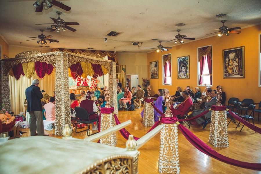 wide shot of ceremony calgary hindu wedding hare krishna anna michalska