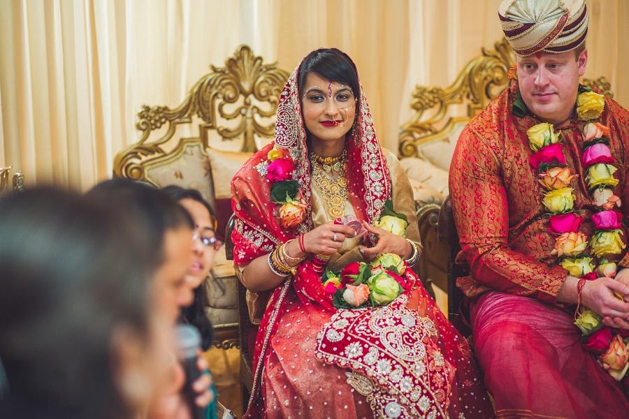 calgary hindu wedding hare krishna anna michalska bride and groom