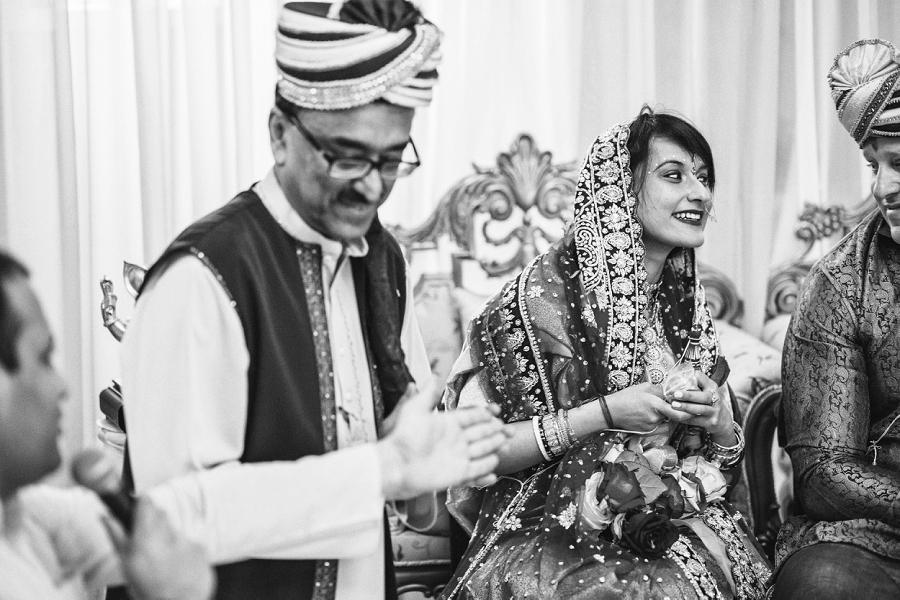 bride laughing to groom calgary hindu wedding hare krishna anna michalska