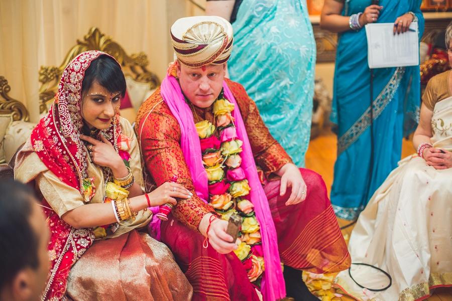 bride and groom calgary hindu wedding hare krishna anna michalska