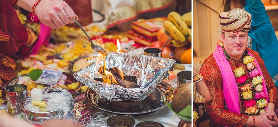 ghee into flame groom calgary hindu wedding hare krishna anna michalska