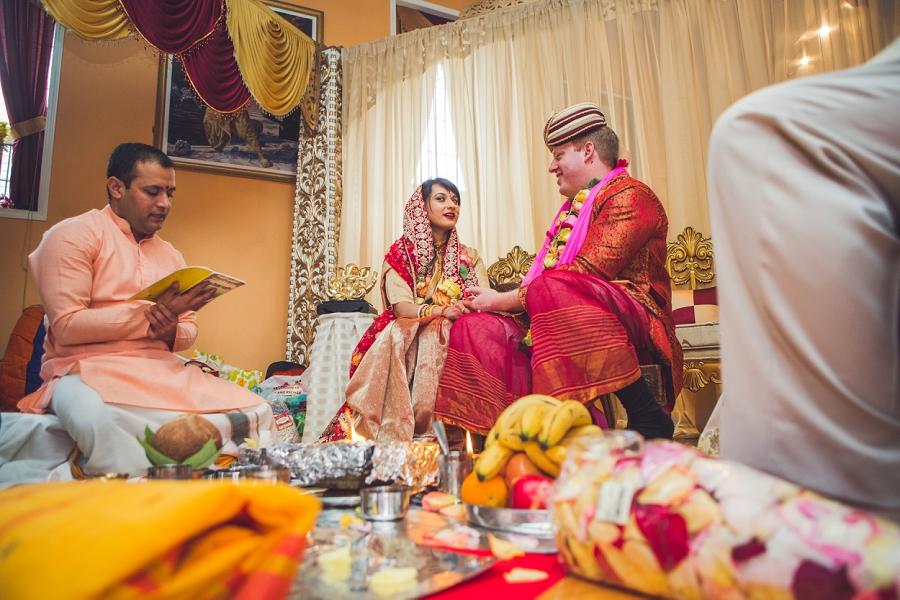 exchanging vows calgary hindu wedding hare krishna anna michalska