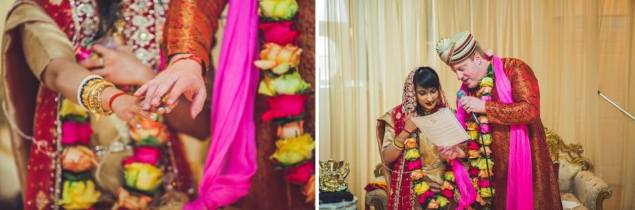 groom bride exchange vows calgary hindu wedding hare krishna anna michalska