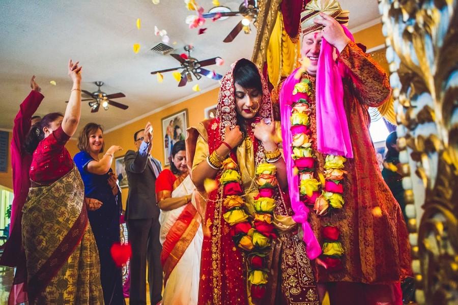 Anna + Barry | Calgary Hindu Wedding At Hare Krishna