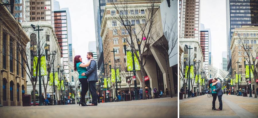calgary downtown engagement photos stephen ave city trees anna michalska photography