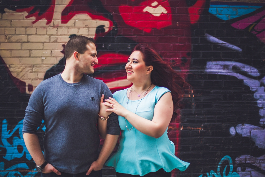 calgary downtown engagement photos peace bridge anna michalska photography