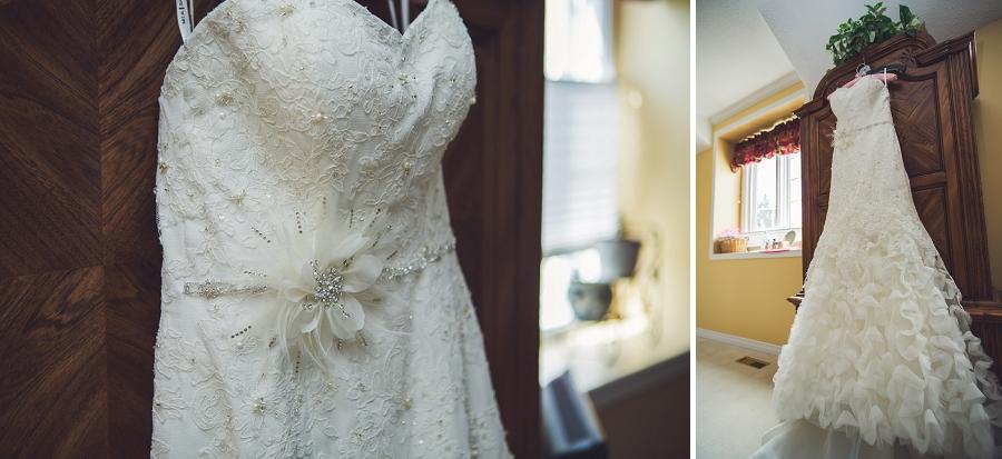 ruffled bridal dress calgary wedding photographer anna michalska