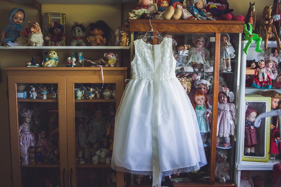 flower girl dress with dolls calgary wedding photographer anna michalska