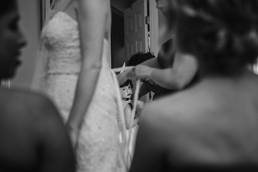 flower girl getting ready calgary wedding photographer anna michalska