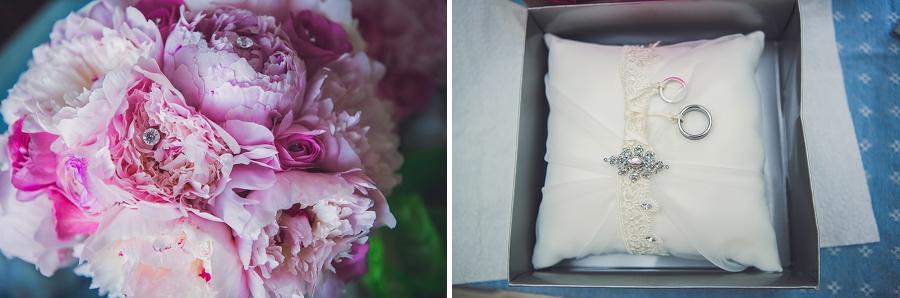 bride bouquet ring bearer pillow calgary wedding photographer anna michalska