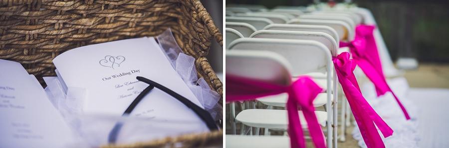 valley ridge golf calgary wedding photographer anna michalska programme pink aisle runners