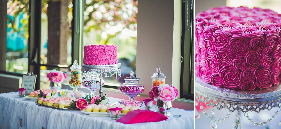 pink floral wedding cake valley ridge golf calgary wedding photographer anna michalska