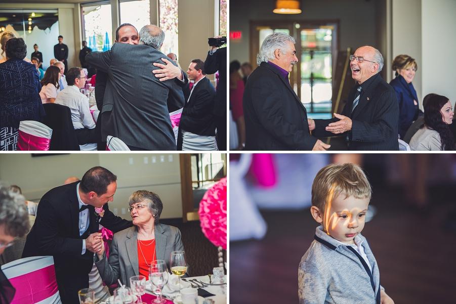 valley ridge golf calgary wedding photographer anna michalska bride groom thanking guests