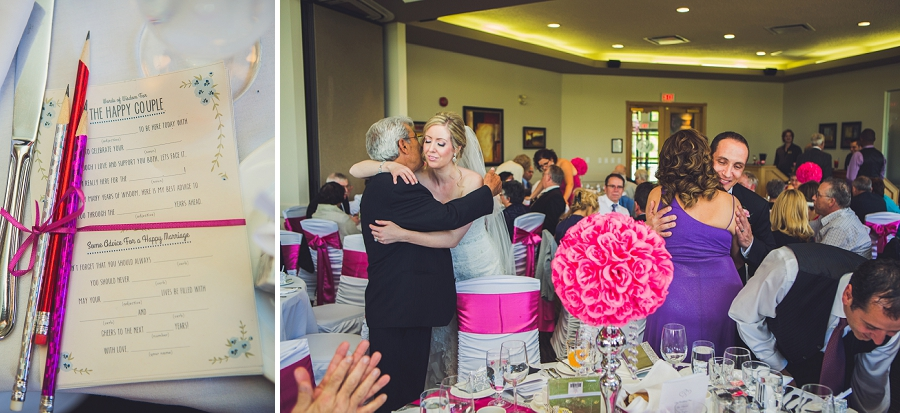 valley ridge golf calgary wedding photographer anna michalska bride groom hugging guests