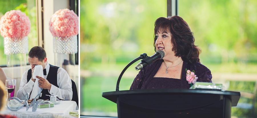groom mother's speech crying valley ridge golf calgary wedding photographer anna michalska