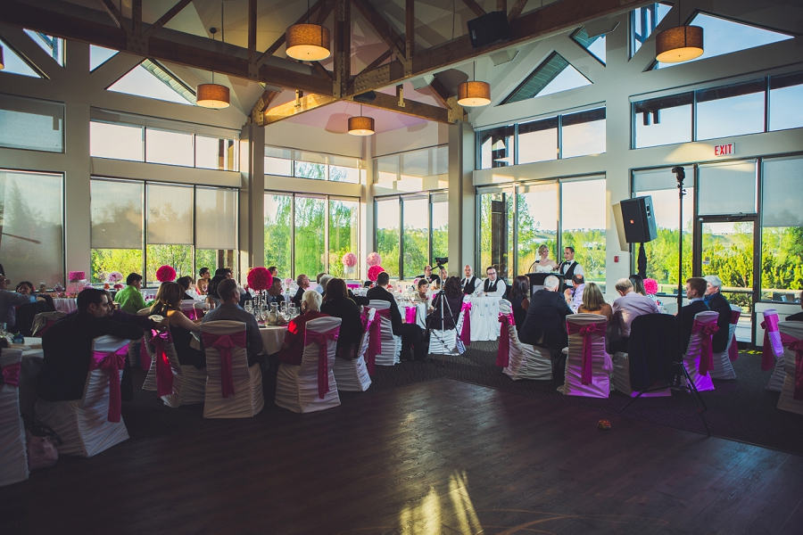 valley ridge golf calgary wedding photographer anna michalska speeches pink decor