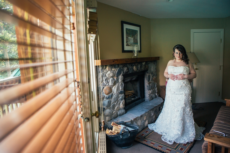 bride in wedding dress calgary wedding photographer emerald lake lodge anna michalska