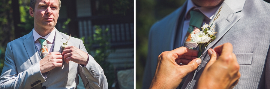 calgary wedding photographer emerald lake lodge anna michalska groom with boutonniere